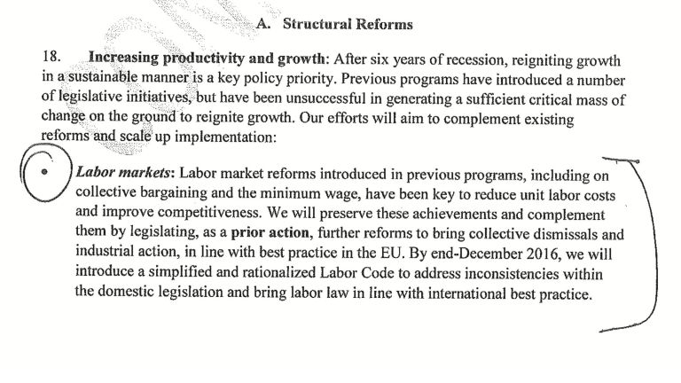 What the government and IMF agreed on labor reforms | tovima.gr