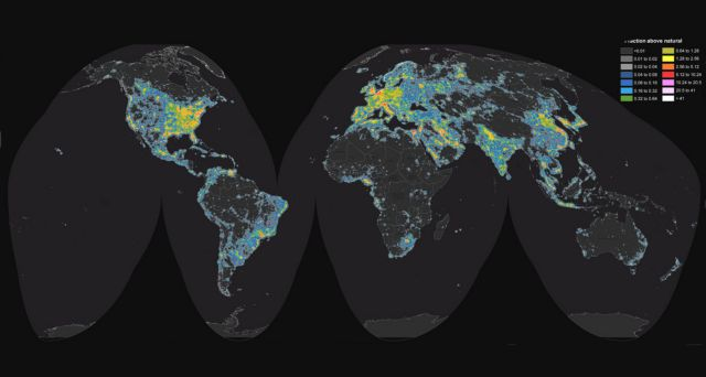 Η φωτορύπανση θαμπώνει πλέον το 80% του πλανήτη   tovima.gr