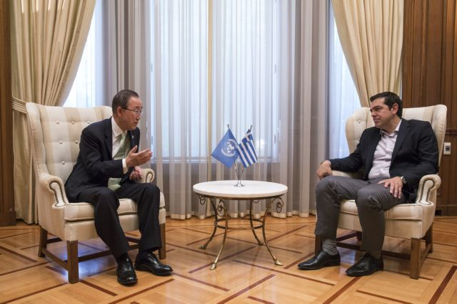 Ban Ki-moon praises Greek response to the refugee crisis | tovima.gr