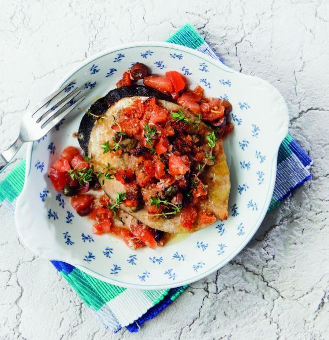 Ξιφίας στον φούρνο με ντομάτα και ελιές | tovima.gr