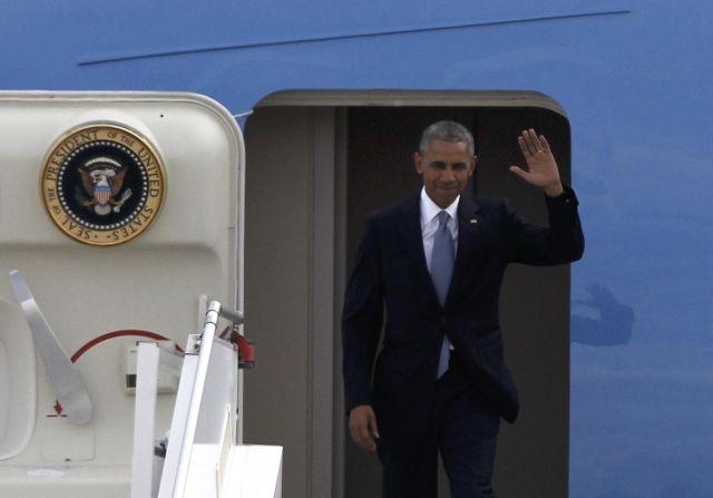 US President Barack Obama arrives in Athens | tovima.gr