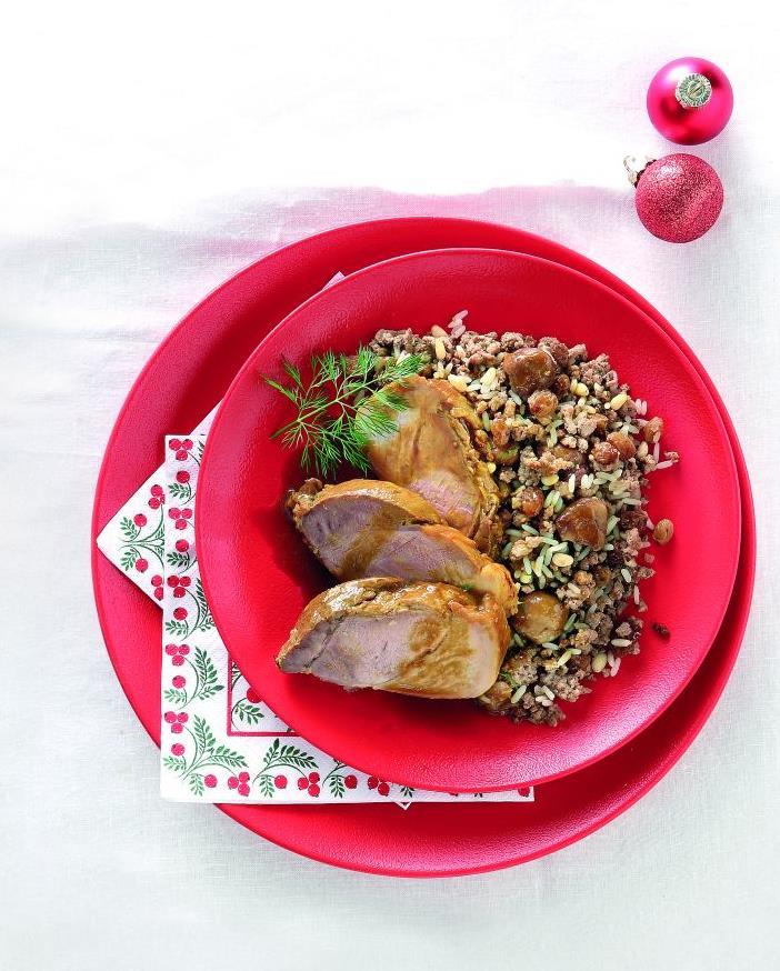 Μαριναρισμένο χοιρινό με παραδοσιακή γέμιση | tovima.gr