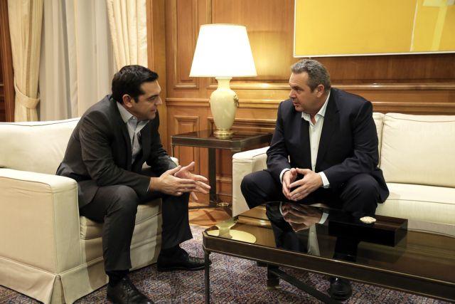 Με τον Π. Καμμένο έκλεισε η κύκλος επαφών Τσίπρα για το Κυπριακό | tovima.gr