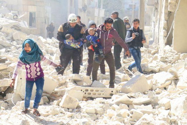 16 νεκροί σε αεροπορική επιδρομή σε φυλακή της συριακής πόλης Ιντλίμπ   tovima.gr