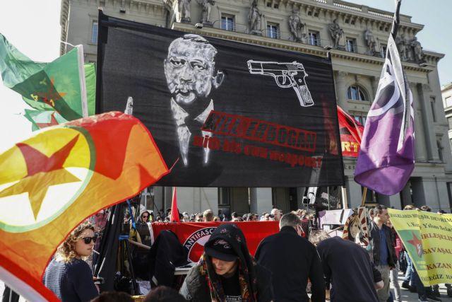 Οργή της Άγκυρας για τη διαδήλωση στη Βέρνη υπέρ του «όχι» στο δημοψήφισμα   tovima.gr