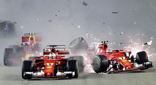 Ο Χάμιλτον νικητής στη Σιγκαπούρη, τράκαραν οι Ferrari | tovima.gr