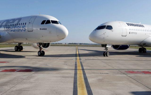 Συνεχίζονται οι αερομαχίες μεταξύ Airbus και Boeing για τα αεροσκάφη CSeries | tovima.gr