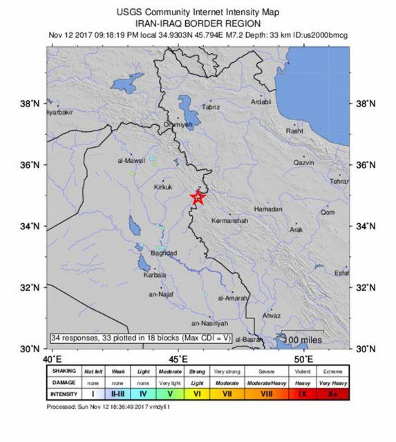 Στους 336 οι νεκροί από το σεισμό 7,3 βαθμών στα σύνορα Ιράκ – Ιράν | tovima.gr