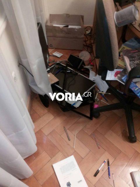 Θεσσαλονίκη: Επίθεση αντιεξουσιαστών στα γρφεία της ΕΣΗΕΜΘ | tovima.gr