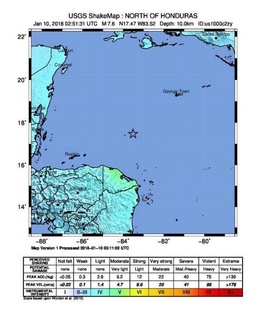 Ονδούρα: Σεισμός 7,8 βαθμών, ήρθη η προειδοποίηση για τσουνάμι   tovima.gr