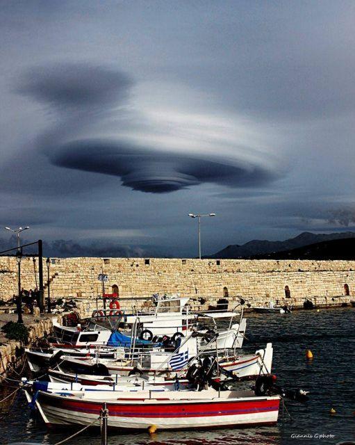 «Εξωγήινο» νέφος πάνω από την Κρήτη | tovima.gr