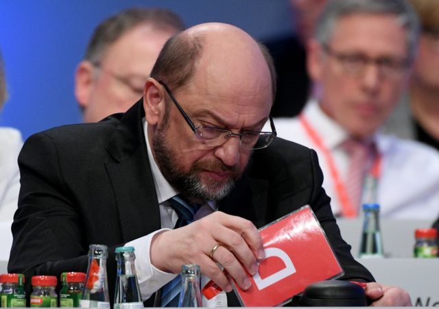 Ενώπιον διλημμάτων έθεσε τους συνέδρους του SPD ο Σουλτς   tovima.gr