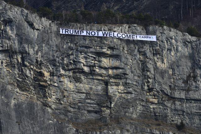 Ανάμεικτα συναισθήματα για τον Τραμπ από τους πολίτες στο Νταβός   tovima.gr