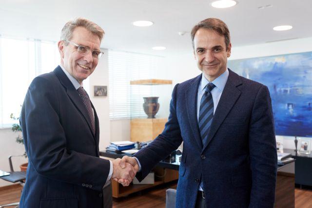 Συνάντηση Μητσοτάκη με τον αμερικανό πρέσβη στην Αθήνα | tovima.gr