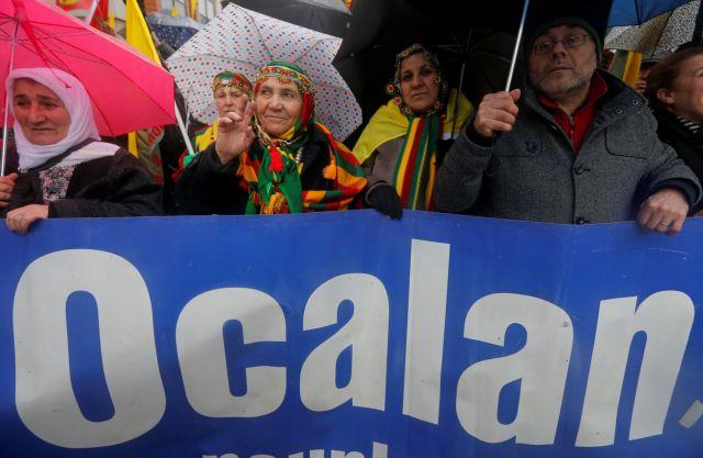 Οι Κούρδοι στο Στρασβούργο διαδήλωσαν για την απελευθέρωση του Οτσαλάν   tovima.gr
