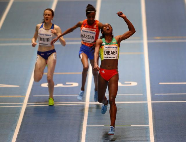 Παγκόσμιο κλειστού στίβου:  Η Ντιμπάμπα υπερασπίστηκε τον τίτλο της στα 3.000μ | tovima.gr
