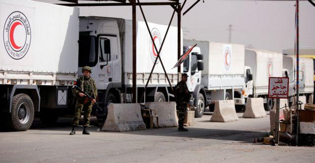 Συρία: Στη Γούτα εισέρχεται διεθνής αυτοκινητοπομπή με βοήθεια   tovima.gr