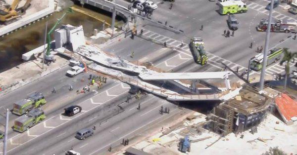 ΗΠΑ: Στους 6 οι νεκροί από την κατάρρευση πεζογέφυρας σε αυτοκινητόδρομο στο Μαϊάμι (video) | tovima.gr