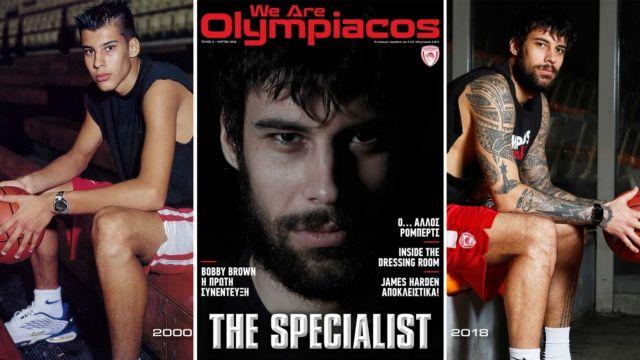 Ο Πρίντεζης αποκαλύπτεται στο περιοδικό του Ολυμπιακού | tovima.gr