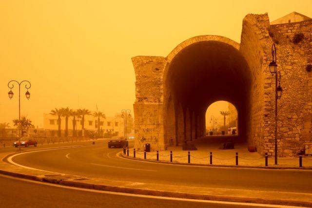 Η αφρικανική σκόνη «πνίγει» ξανά την Κρήτη | tovima.gr