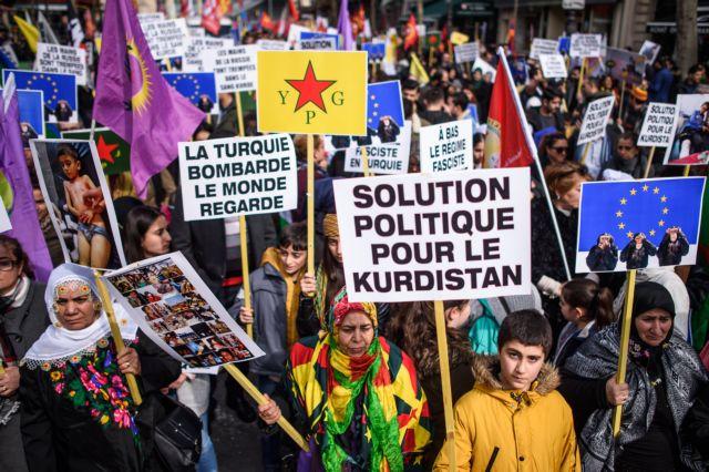 Διαδηλώσεις Κούρδων για την Αφρίν σε ευρωπαϊκές πόλεις | tovima.gr
