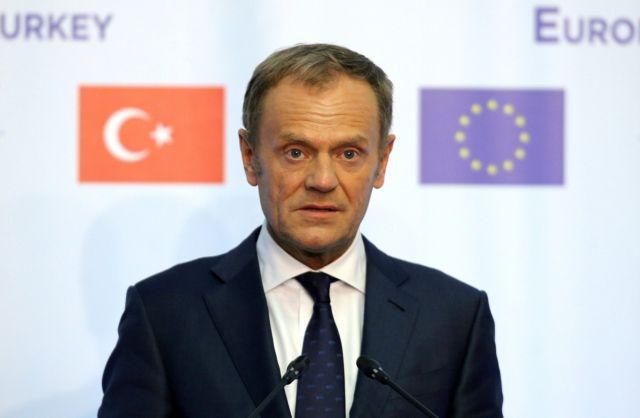 Τουσκ: Η ΕΕ θα παραμείνει στο πλευρό των συμμάχων της | tovima.gr