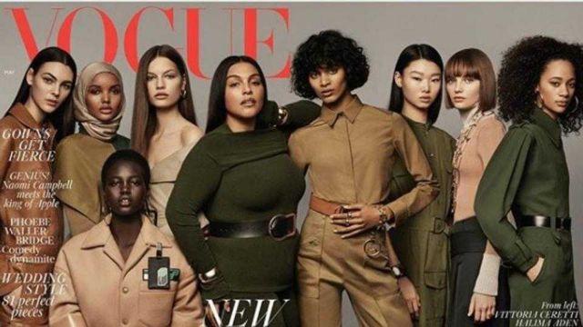 Το νέο εξώφυλλο της βρετανικής Vogue «φοράει» για πρώτη φορά μαντίλα   tovima.gr