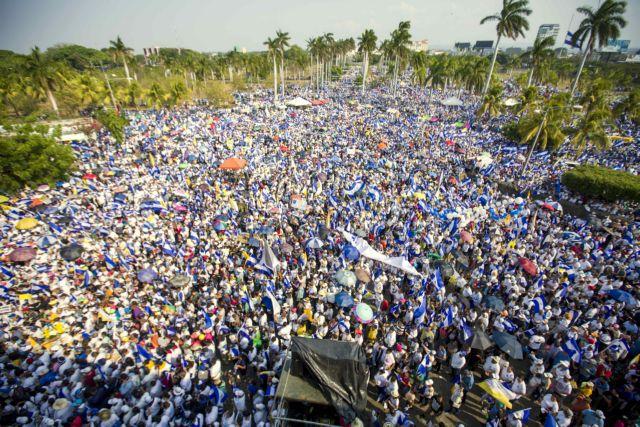 Νικαράγουα: Χιλιάδες διαδηλωτές στους δρόμους ζητούν ειρήνη και δικαιοσύνη | tovima.gr