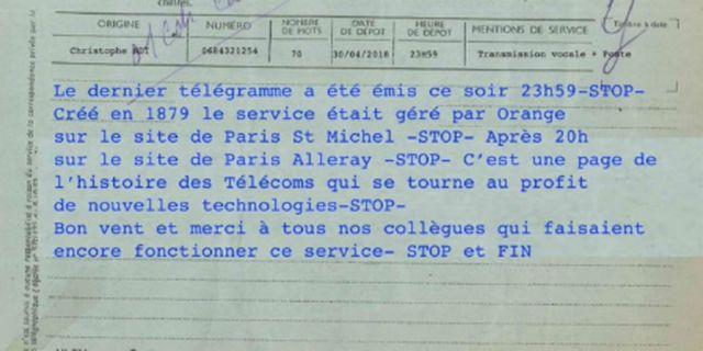 Γαλλία: Τίτλοι τέλους για την υπηρεσία τηλεγραφημάτων | tovima.gr