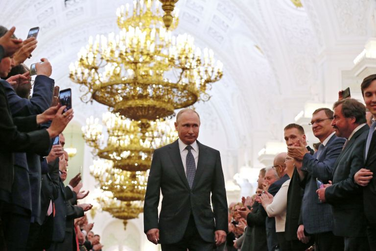 Ορκίστηκε για 4η θητεία ο Πούτιν | tovima.gr