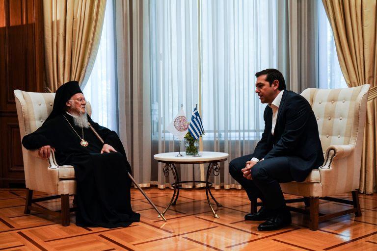 Τσίπρας σε Βαρθολομαίο: Καλωσορίζουμε την επίλυση των εκκλησιαστικών διαφορών Ελλάδας- πΓΔΜ | tovima.gr