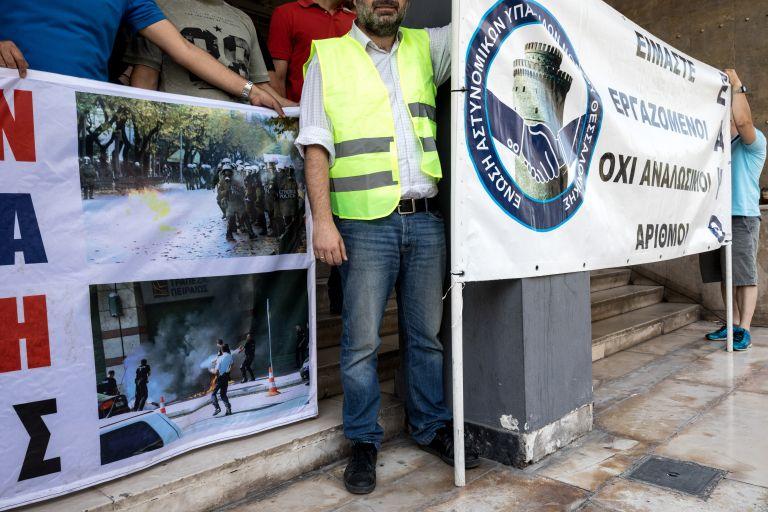 Θεσσαλονίκη: Διαμαρτυρία αστυνομικών για την επίθεση στα ΜΑΤ | tovima.gr