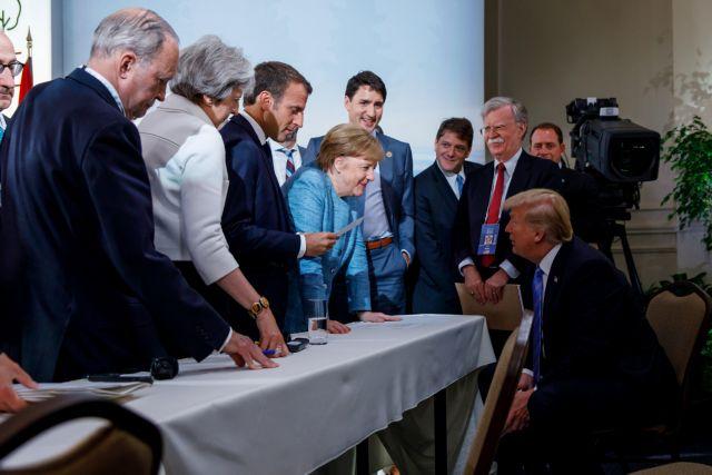 Ναυάγιο στη σύνοδο των G7 – Ξέσπασε πόλεμος Τραμπ με Τριντό | tovima.gr