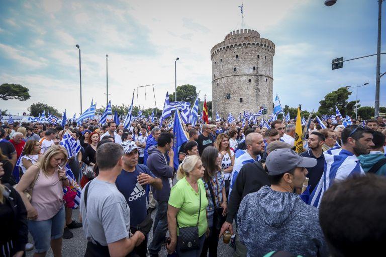 Ενταση στο συλλαλητήριο για τη Μακεδονία στον Λευκό Πύργο | tovima.gr