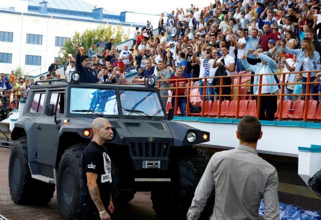 Αποθέωση για τον Μαραντόνα στη Λευκορωσία | tovima.gr