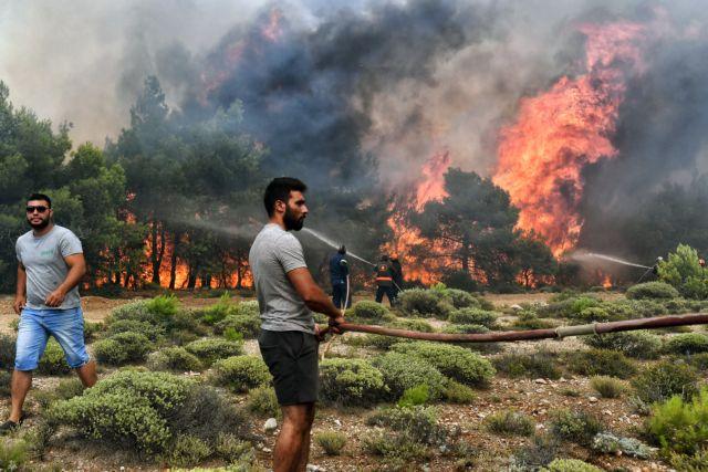Σε ύφεση η πυρκαγιά στο Καλαμάκι Ζακύνθου | tovima.gr