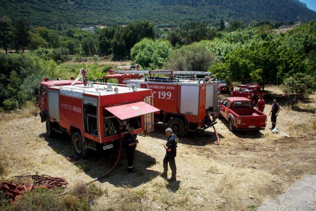 Σε ύφεση πυρκαγιά στη Γαλαζιά Ακτή στον Σχοινιά | tovima.gr