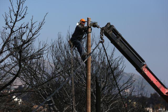 Ένα μήνα θα χρειαστεί ο ΟΤΕ για να επιδιορθώσει τις βλάβες στις πυρόπληκτες περιοχές | tovima.gr
