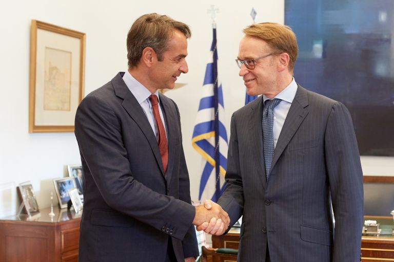 Για την οικονομία και τις προοπτικές της χώρας συζήτησαν οι Μητσοτάκης – Βάιντμαν | tovima.gr