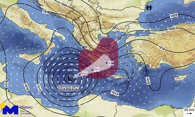Mediterranean cyclone: 11-metre high wave expected | tovima.gr