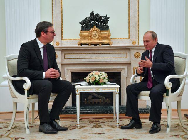 Πούτιν – Βούτσιτς: Συζήτησαν για την κατάσταση στα Βαλκάνια και την πΓΔΜ   tovima.gr