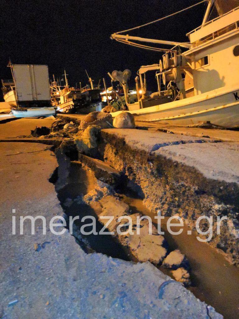 Σεισμός 6,5 βαθμών στη Ζάκυνθο : Ρωγμή στο Λιμάνι και πτώση βράχων – Καταγραφή των πρώτων ζημιών | tovima.gr
