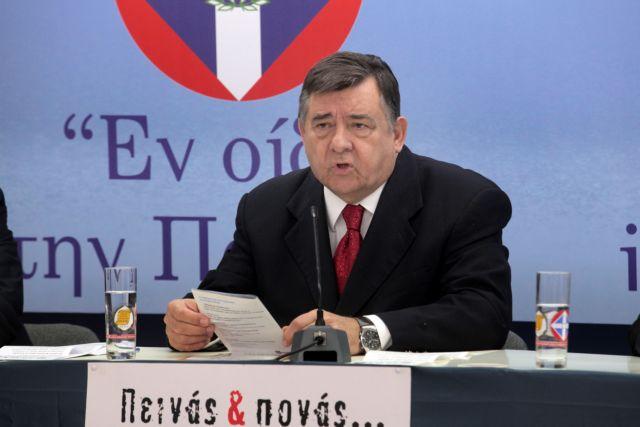 Καρατζαφέρης: Αγνωστοι πέταξαν μπογιές στο σπίτι του | tovima.gr