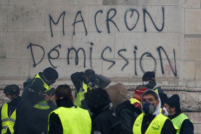 Μακρόν: Δεν θα δεχθώ τη βία και τους βανδαλισμούς | tovima.gr