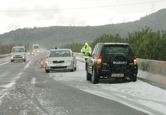 Προβλήματα από την κακοκαιρία στο οδικό δίκτυο | tovima.gr