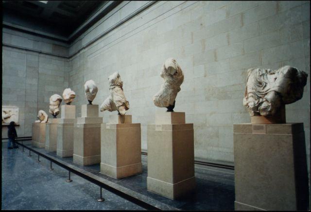 Διαρροή στη στέγη του Βρετανικού Μουσείου [Βίντεο] | tovima.gr