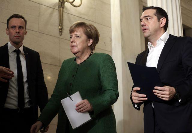 Merkel offers profuse praise for Tsipras, Zaev in Athens | tovima.gr
