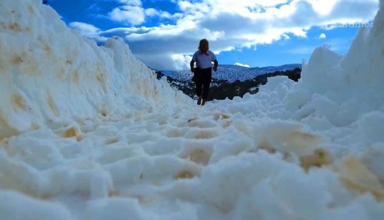 Βίντεο με μαραθωνοδρόμο που τρέχει ξυπόλητος στα χιόνια του Ψηλορείτη   tovima.gr