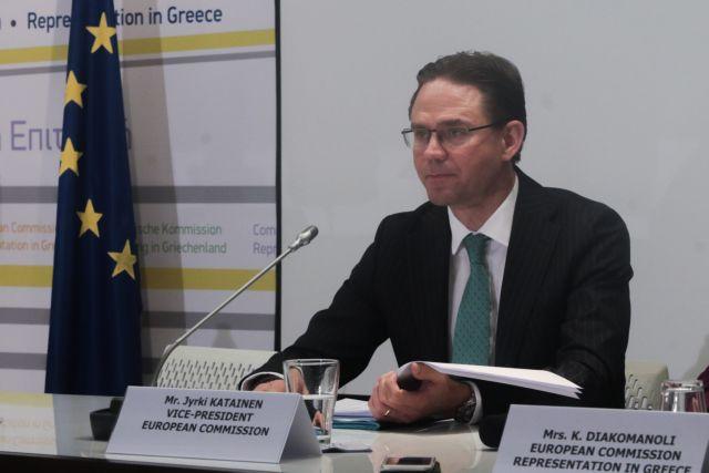 Katainen praises Greece on absorption of EU funding | tovima.gr
