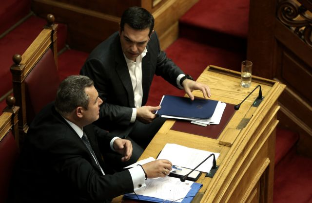 Kammenos calls Tsipras hitman, PM says he tried to topple him | tovima.gr